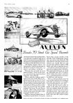 1935 WORLD'S FASTEST STOCK CAR AUBURN Breaks 70 Stock Cars Speed Records AUBURN AUTOMOBILE COMPANY AUBURN INDIANA TIME August 5 page 33