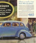 1935 11 30 STUDEBAKER STUDEBAKER presents smartest cars of 1936 – for the Smartest Buyers of 1936 Studebaker South Bend, Indiana page 45 right
