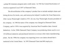 DIAMOND CHAIN History Diamond Chain & Mfg. Co. Indianapolis, Indiana page 3