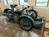 1896 3-WHEELER This original three-wheel car, built in France by Leon Bollee Picture taken at Indianapolis Motor Speedway June 2016 March, 1896