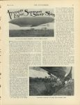 "1908 7 16 Aeronauts Enjoy Summer's Sunny Skies U of MN Library THE AUTOMOBILE 8.75""x11.5"" page 97"