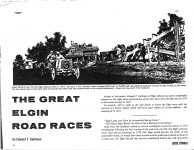 1910 NATIONAL THE GREAT ELGIN ROAD RACES by Edward F. Gathman ANTIQUE AUTOMOBILE JULY-AUGUST 1970 AACA Library page 14