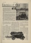 1913 10 23 ELECTRIC ARTICLES The Passenger Electrics of 1914. BAKER, BAILEY. MODEL45 DETROIT FIVE – PASSENGER BROUGHAM, $2,800. BAKER ROADSTER LATEST MODEL $2,300 MOTOR AGE October 23, 1913 Antique Automobile Club of America Library page 11