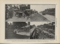 1913 8 20 BABLOT RETURNING TO THE PADDOCK, OR GARAGE, AFTER HIS VICTORY AGE AACA Library page 292