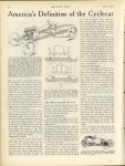 1913 5 15 CYCLE CAR America's Definition of The Cyclecar MOTOR AGE May 15, 1913 page 26