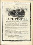 1913 6 5 PATHFINDER PATHFINDER THE QUALITY DESIGN OF THE PATHFINDER HAS NO DUPLICATE Motor Car Mfg. Co. Indianapolis, Indiana MOTOR AGE June 5, 1913 page 133
