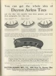 1913 4 17 ODD You can get the whole idea of Dayton Airless Tires. Dayton Rubber Mfg, Co. 1000 Kiser St. Dayton, Ohio MOTOR AGE April 17, 1913 page 73