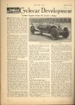 1914 1 8 CYCLE CAR Cyclecar Development…Cyclecar Engineer Points Out Trends in Design MOTOR AGE January 8, 1914 Antique Automobile Club of America Library page 60