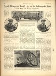 1914 4 16 Indy 500 Speedy Delages as Tuned Up for the Indianapolis Race MOTOR AGE AACA Library page 28