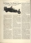 1915 12 16 ODD Six Passenger, Two-Wheeled Gyro Car, Gyroscope Affords Control for keeping Car Upright – Used in London MOTOR AGE AACA Library December 16, 1915 page 34