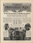 1915 6 2 Indy 500 World's Records Made in 500-Mile Sweepstakes THE HORSELESS AGE AACA Library page 725