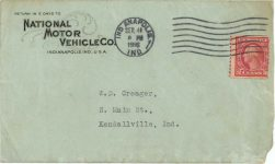 1916 9 11 NATIONAL envelope