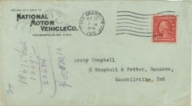 1916 9 20 NATIONAL envelope front