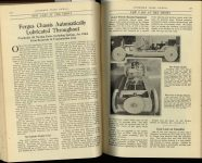 1920 2 ODDITIES NEW CARS AT THE SHOWS Fergus Chassis Automatically Lubricated Throughout AUTOMOBILE TRADE JOURNAL February, 1920 pages 273 & 274