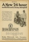 1925 4 1 A new 24 hour World's Record is being attempted, RUDGE-WHITWORTH FOUR VALVE FOUR SPEED MOTOR CYCLING page 5