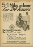 1925 4 8 54 Miles an hour for 24 (consecutive) hours. RUDGE-WHITWORTH FOUR VALVE FOUR SPEED, A WORLD'S RECORD, 1,300 miles covered in 24 consecutive hours MOTOR CYCLING page 2