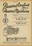 1925 4 8 Record Value for a Record Machine. RUDGE-WHITWORTH FOUR VALVE FOUR SPEED MOTOR CYCLING page 3