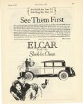 1927 1 6 ELCAR See Them First ELCAR with the Shock-less Chassis ELCAR ELKHART MOTOR COMPANY Elkhart, Indiana MOTOR AGE January 6, 1927 page 243