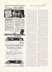 1937 5 DUESENBERG Duesenberg Bargains $3950 Duesenberg Automobile & Motors Co., Inc. Indianapolis, Indiana THE SPORTSMAN May, 1937 page 72