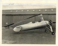 1937 Auto Gyro 2 place Commercial Autogyro with blades folded 10″×8″ front