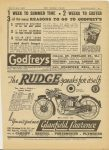 1938 3 31 The RUDGE speaks for itself. The Safe – Silent – Speed Range. MOTOR CYCLING Advertisement page 19