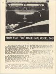 "1909 FIAT ""90"" Race Car Model S-61 Horseless Carriage Club Gazette August 1950 8.5″x11″ page 30"