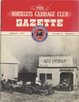 1950 8 THE HORSELESS CARRIAGE CLUB GAZETTE August 1950 8.5″x11″ Front cover