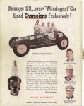 1951 Indy 500 TAY 8″×11″ Back cover