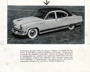 """1953 ODDITIES A Luxurious hardtop sedan the KAISER """"Dragon"""" is joining the new series of 1953 Kaiser Models 10″×8″ Front"""
