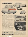 1956 3 PACKARD PROPHECY from the PAST PACKARD'S Contribution to the Chicago Automobile Show the Clipper Predictor 8″×11″ page 54