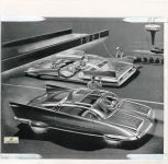 1958 2 27 A FLYING CAR IN THE NEAR FUTURE…which is predicted as the car of 1978 by Detroit Production Designer Carl Reynolds 8″×8″ Front