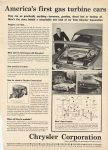1962 CHRYSLER America's first gas turbine cars Chrysler Corporation Where engineering puts something extra into every car. AUTOMOTIVE NEWS 11″×15″ page 93