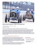 2016 6 18 SVRA: Brickyard Invitational – Return of the Indigo Twins By Mark Dill June 18, 2016 Racer.com page 1