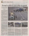 2016 6 20 AUTO RACING Event's oldest cars take to the track By Frank Gogola INDIANAPOLIS STAR Monday June 20, 2016 page 3C
