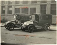ELECTRIC trucks 10″×8″ photo front