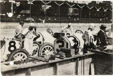 1913 Indy 500 STUTZ Car 8 Don Herr, Car 3 Gil Anderson, Car 2 Charlie Merz