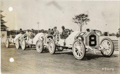 1913 Indy 500 STUTZ Car 2 Charlie Merz, Car 3 Gil Anderson, Car 8 Don Herr X 7514