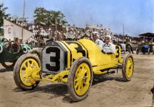 1913 Indy 500 STUTZ Car 3 Gil Anderson driver colorization sanna dullaway 02