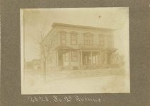 ca. 1899 2828 South 2nd Avenue Bateman household Minneapolis Minnesota 5″x4″