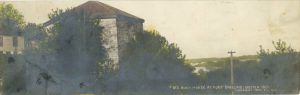 "1902 #177 BLOCK HOUSE AT FORT SNELLING Erected 1820 FL Wright Photo 11""x3.5"" Hand-colored Real Photo Post Card"