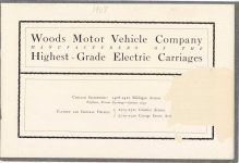 1908 WOODS Woods Motor Vehicle Company Highest-Grade Electric Carriages page 1
