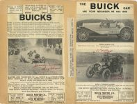 1909 BUICK Racing scrapbook page