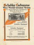 1912 6 6 SCHEBLER National No. 8 Winner Wheeler-Schebler Indianapolis, Indiana MOTOR AGE 9″×11″ page 56
