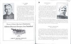 1912 Indy 500 program Charlie Merz