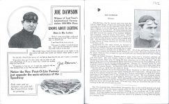 1912 Indy 500 program Joe Dawson