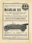 1914 8 20 McFARLAN THE ONLY TRIED AND PROVEN MEDIUM-PRICED SIX ON THE AMERICAN MARKET McFarlan Motor Co. Connersville, Indiana THE AUTOMOBILE August 20, 1914 9″×12″ page 88