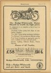 1925 2 25 The RUDGE-WHITWORTH MOTOR BICYCLE is worth it's high price. Ride a RUDGE-WHITWORTHand get there and back. MOTOR CYCLING 7.5″x11″ page 8
