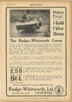1925 3 18 The Rudge-Whitworth Canoe Victory Trail. 1 Gold, 2 Silver, 1 Bronze MOTOR CYCLING 7.5″x11″ page 7