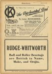 1925 3 18 RUDGE-WHITWORTH Ball and Roller Bearings are British in Name, Make and Origin MOTOR CYCLING 7.5″x11″ page 8