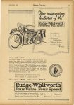 1925 3 25 Five outstanding features of the RUDGE-WHITWORTH FOUR VALVE FOUR SPEED MOTOR CYCLING 7.5″x11″ page 43